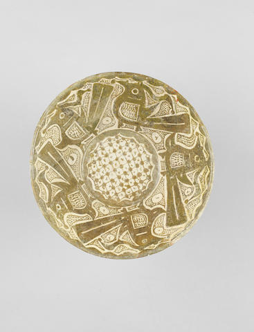 A Nishapur 'imitation lustre' pottery Bowl Persia, 10th Century