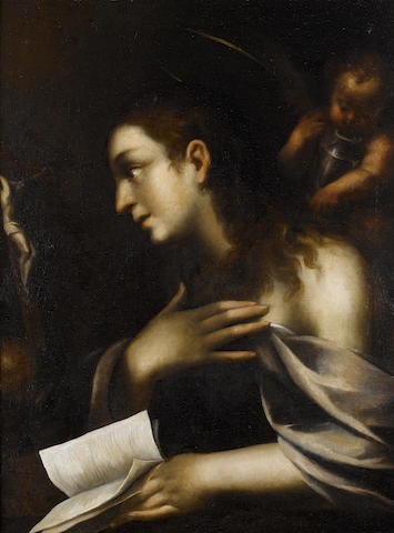 Lombard School, 17th Century  The Penitent Magdalen