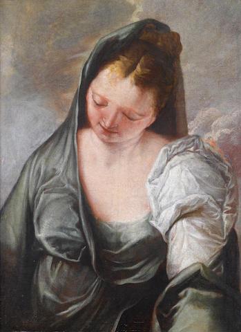 Circle of Francesco Salvator Fontebasso (Venice 1709-1769) A draped female figure
