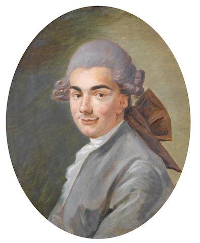 Circle of François André Vincent (Paris 1746-1816) Portrait of a gentleman, bust-length,