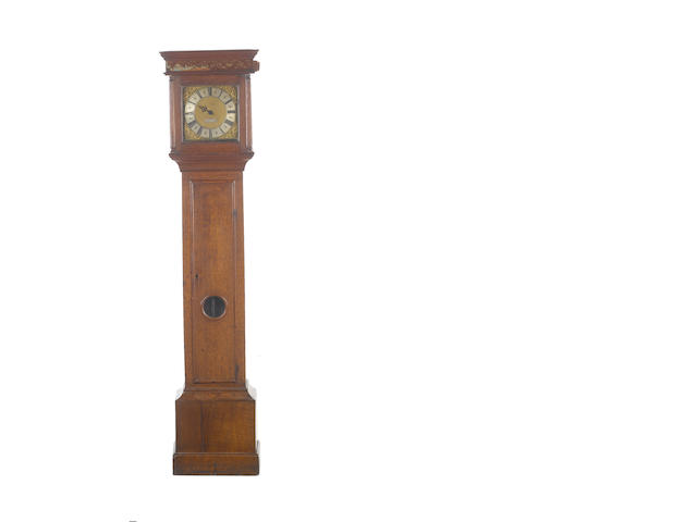 A late 18th century oak cased thirty hour longcase clock  Jos. Hocker, Basingstoke