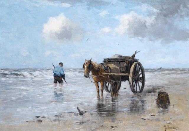 Johan Frederik Cornelis Scherrewitz (Dutch, 1868-1951)  A shell gatherer