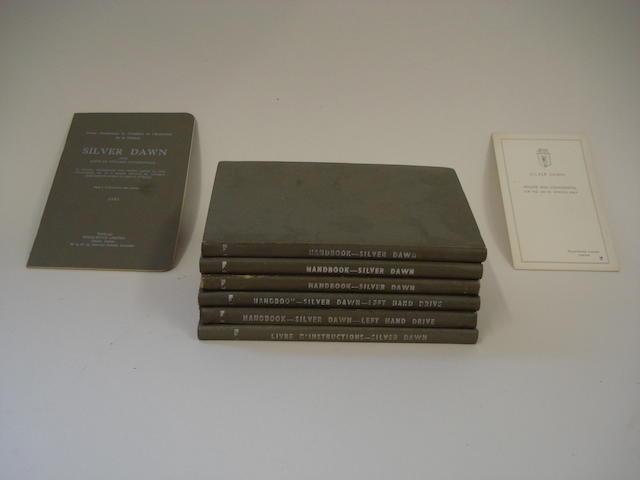 Six Rolls-Royce Silver Dawn handbooks,