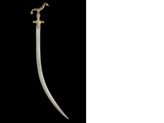 An unusual gold overlaid steel Sword Lucknow, 19th Century(2)