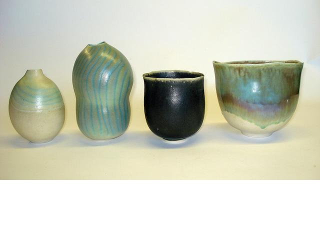 A collection of Usha Khosla studio pottery