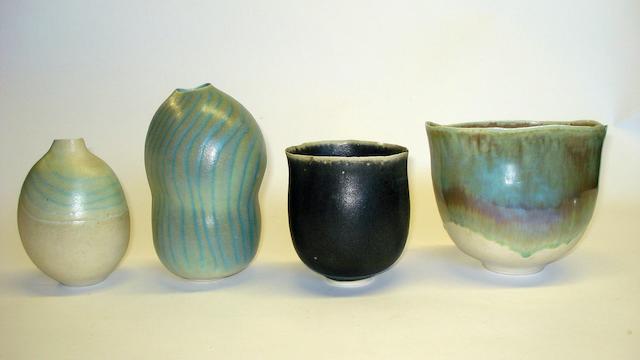 A collection of Usha Khosla studio pottery