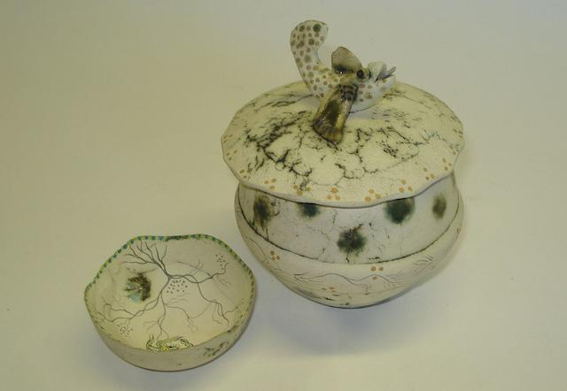 Two pieces of Stephanie Redfern studio pottery