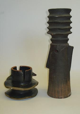 Two pieces of Clive Brooker studio pottery
