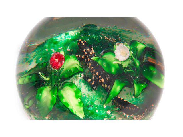 A Pantin salamander magnum paperweight, 19th century, 10.7cm diameter