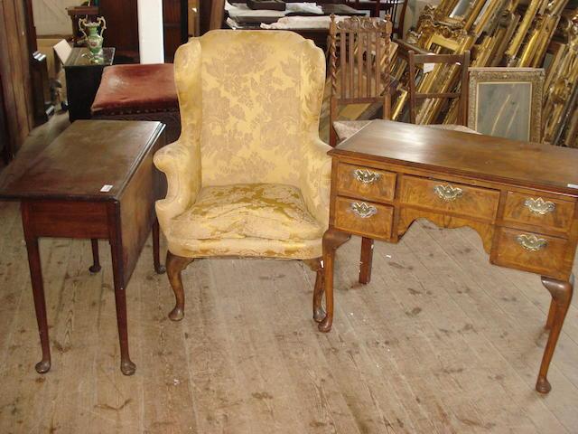 An 18th Century  mahogany  pad foot table