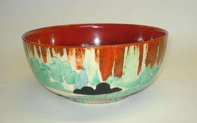 A Clarice Cliff 'Forest Glen' pattern bowl