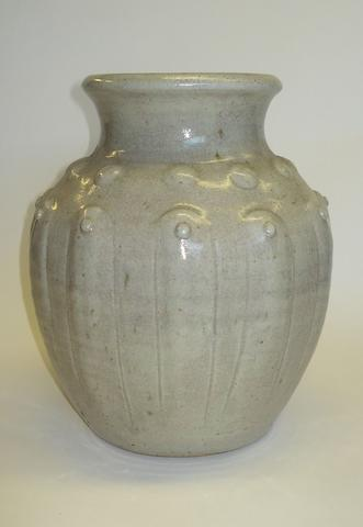 A studio pottery high fired vase by Eddie Curtis