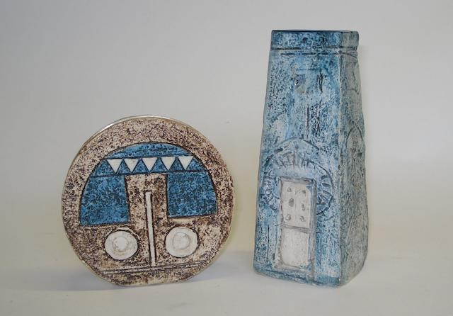 A Troika coffin vase by Beverley Elwood