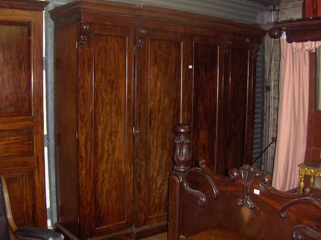 A Victorian mahogany breakfront quadruple wardrobe