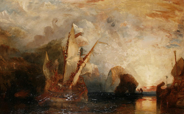 After Joseph Mallord William Turner, RA 'Odysseus deriding Polyphemus'