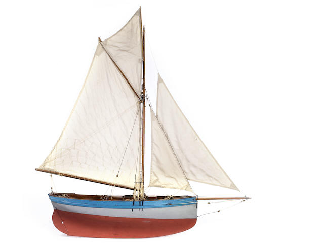 A static concept model of the yacht Rose of Porthleven 1932, 36x8x40in(92x20x102cm)