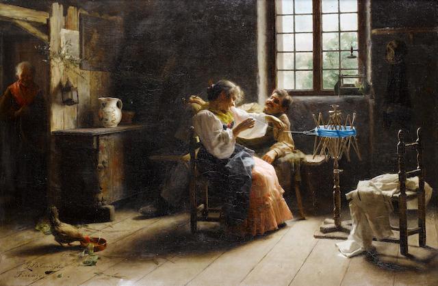 Giovanni Battista Torriglia (Italian, 1858-1937) Flirtation