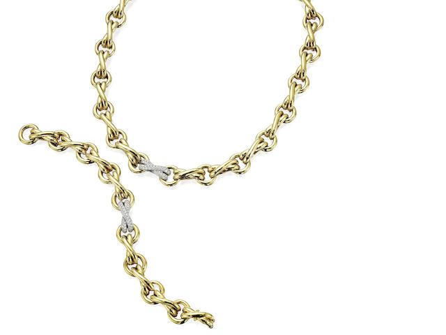 A necklace and bracelet suite, by Paloma Picasso for Tiffany & Co.