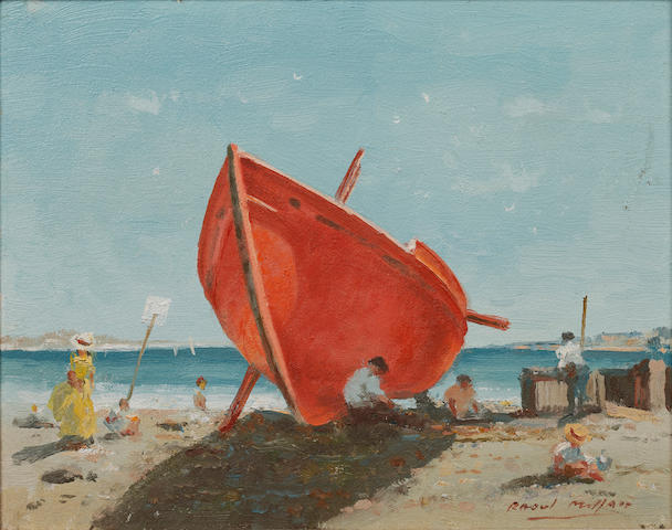 Raoul Millais (British, 1901-1999) The Red Boat
