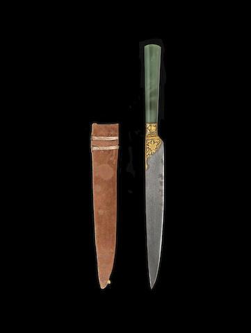 An Ottoman jade-hilted steel Knife Turkey, 19th Century(2)
