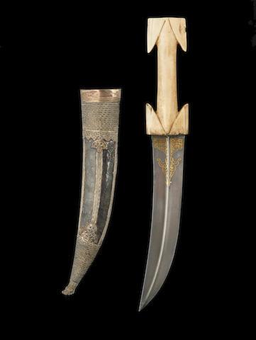 A ivory-handled dagger, Albania