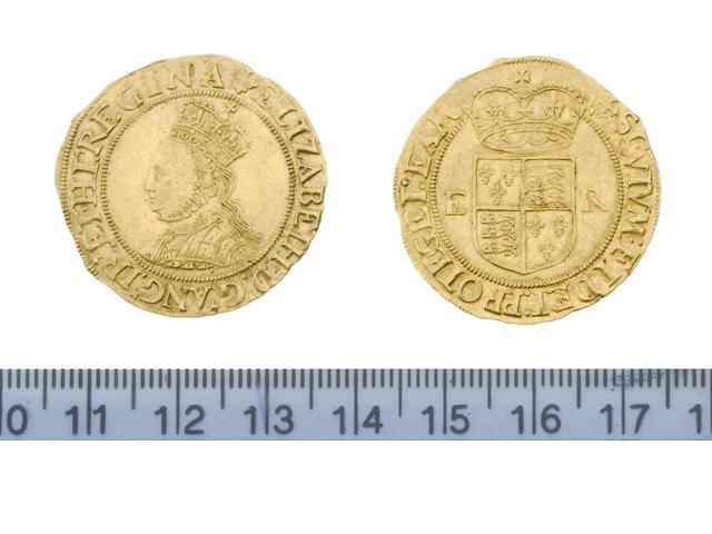 Elizabeth I, second issue (1560-61), Half Pound, g, crowned bust left, beaded inner circle, ELIZABETH D G ANG FR ET HI REGINA,