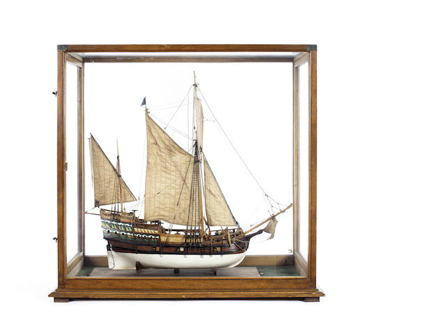 A model of a Dutch Cromster merchant sloop. 35x15x34.5in(89x38x88cm)