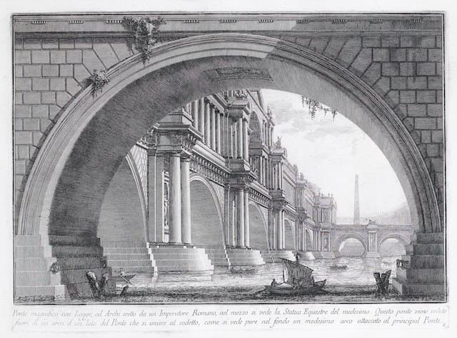 Giovanni Battista Piranesi (Italian, 1720-1778) Ponte Magnifico Etching, engraving and drypoint, c.1778, fourth state of five, on thick laid, 366 x 362mm (10 1/2 x 14 1/4in)(PL)
