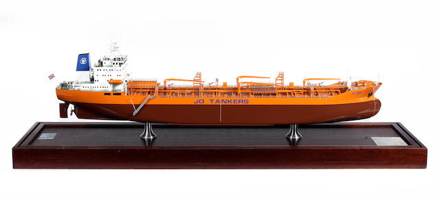 0A Builder's model of the Chemical Tanker Jo Lonn 1982 42x12x15in (107x31x38cm)