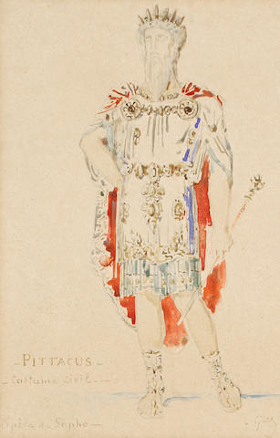 Early 20th Century School 'Pittacus, Costume Civil, Opèra de Sapho'