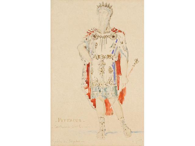 Early 20th Century School 'Pittacus, Costume Civil, Opèra de Sapho'