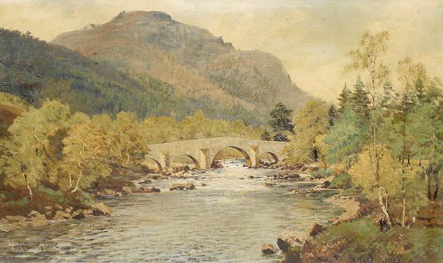 George Melvin Rennie (British, 1874-1953) 'Invercauld Brig and Lochnager'