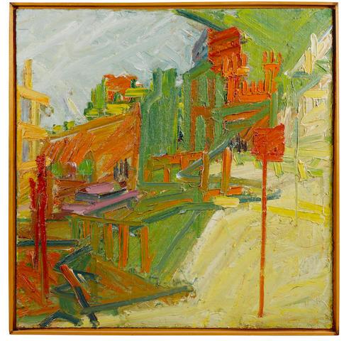 Frank Auerbach (British, born 1931) Looking Towards Mornington Crescent Station 122 x 122 cm. (48 x 48 in.)