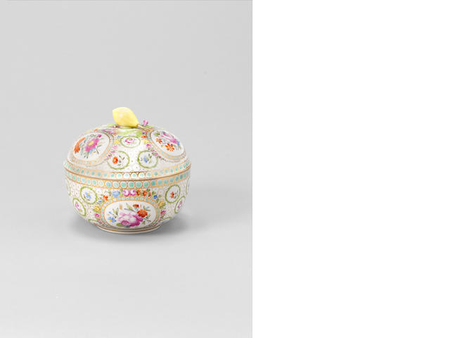 A Meissen Marcolini porcelain Bowl and Cover made for the Turkish Market