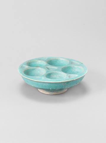 A monochrome pottery Pigment Dish Persia, 12th/ 13th Century