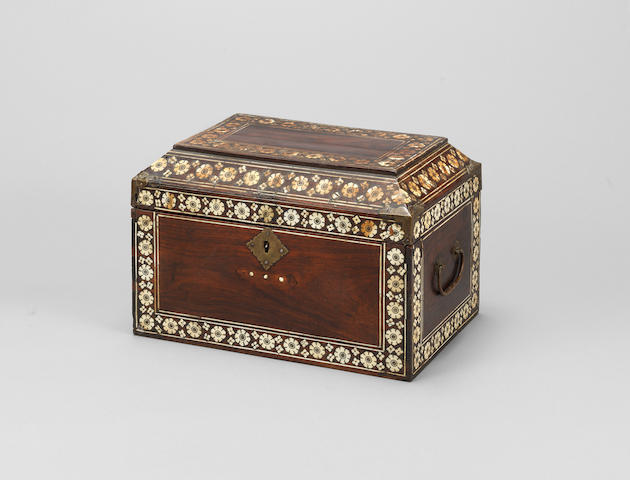 Anglo-Indian ivory inlaid box, 18th Century