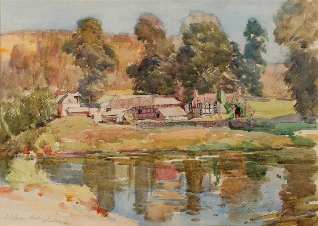 Samuel John Lamorna Birch, R.A., R.W.S., R.W.A. (British, 1869-1955) The Island Farm