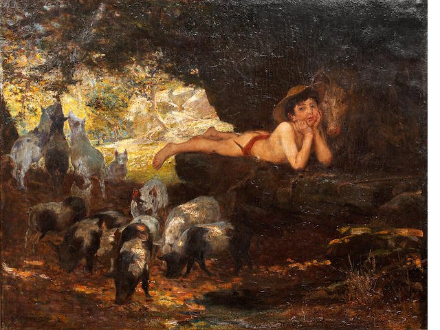 George Percy R. E. Jacomb-Hood (British, 1857-1937) The Little Swine Herd
