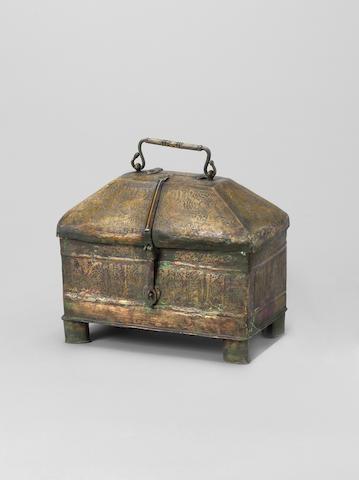 A Khorasan brass Casket Persia, 12th Century