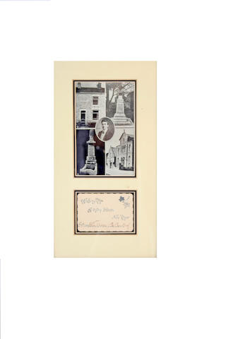 A framed signed New Year Greetings card, Wallace Hartley, Band leader on RMS Titanic.