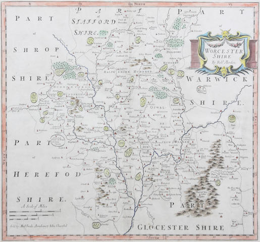 Worcestershire also Notts., Staffs., Northants., Rutland. and Westmorland by Morden (6)