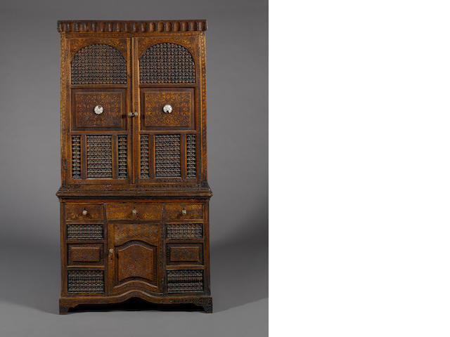 A 19th Century Damascus cabinet in two parts