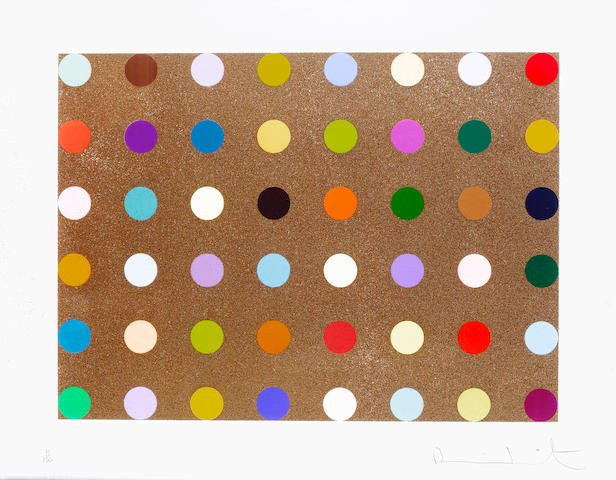 Damien Hirst (British, born 1965) Proctolin  Silkscreen print with bronze glitter, 2008, on wove, signed and numbered 75/150, published by Other Criteria, London, 760 x 950mm (30 x 37 1/2in)(SH)