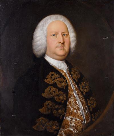 Circle of Thomas Hudson (Devonshire 1701-1779 Twickenham) Portrait of a gentleman,