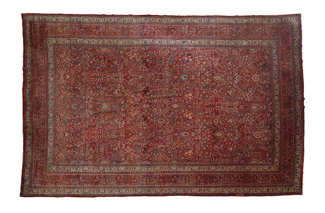 A fine fMeshed carpet  514cm x 378cm