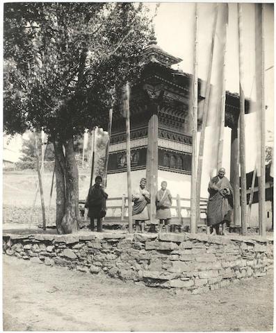 BHUTAN WHITE (JEAN CLAUDE) Chorten at Gorina Monastery