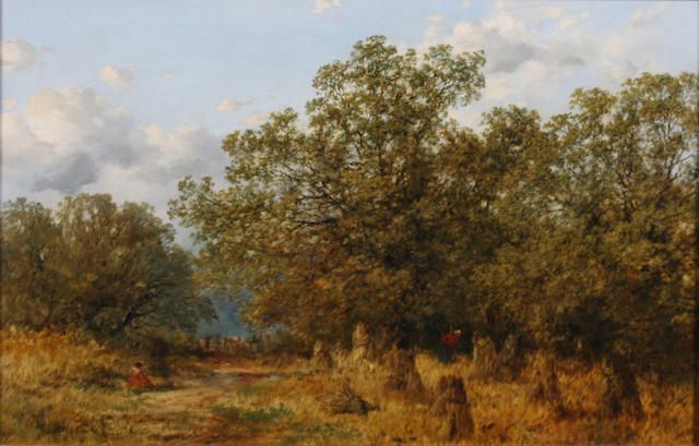 "Peter Deakin, R.B.S.A. (British, active 1854-1884) ""Harvest Time, near Temple Balsall, Warwickshire"" 40.5 x 61cm."