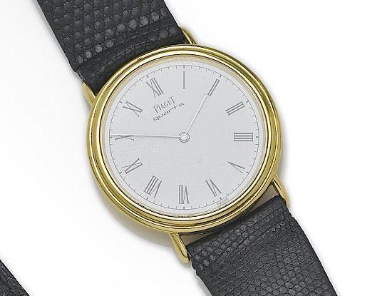 Piaget. An 18ct gold back winding quartz wristwatchRecent