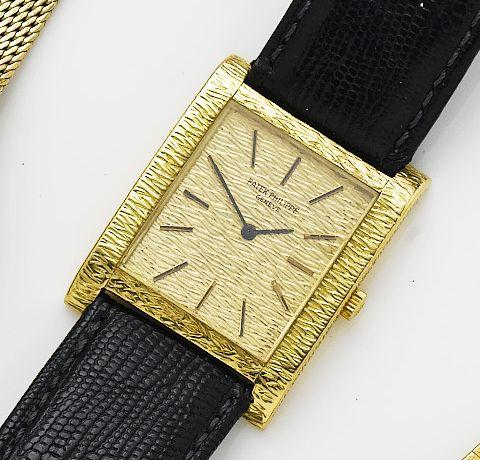 Patek Philippe. An 18ct gold manual wind wristwatchRef. 3553/1, Case Number 2707304, Movement number 1171519, 1970's