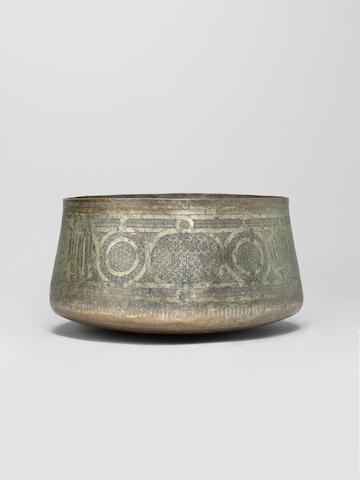 A Mamluk tinned-copper Bowl Egypt or Syria, 15th Century